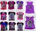 Camiseta de las muchachas del niño de la historieta T Shirt Tops Tees nueva primavera ropa infantil de verano