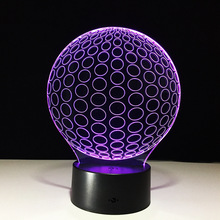 Creative Nightlight 7 Color Change Acrylic LED 3D Stereo Vision Lamp Indoor Atmosphere Lamp Remote Touch Switch Bedroom Light