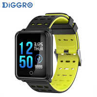 Diggro N88 F15 Smart Watch Color Screen IP68 Waterproof Heart Rate Blood Pressure Monitor Replaceable Bracelet For Android IOS