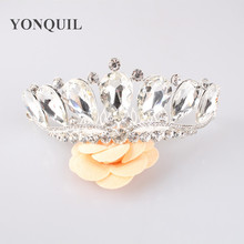 Classic Crystal Bride Hair Accessory Wedding Tiaras And Crown For Sale Rhinestone Pageant Crowns Head Jewelry Headwear MYQC006