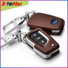 ShinMan брелок из воловьей кожи чехол для автомобильных ключей чехол для Toyota RAV4 Crown REIZ YARIS Highlander Lewin Corolla Camry MARK X VIOS брелок