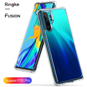 Image 1 - Ringke Fusion Case For Huawei P30 Pro  Flexible Tpu and Clear Hard Back Cover Hybrid  Case