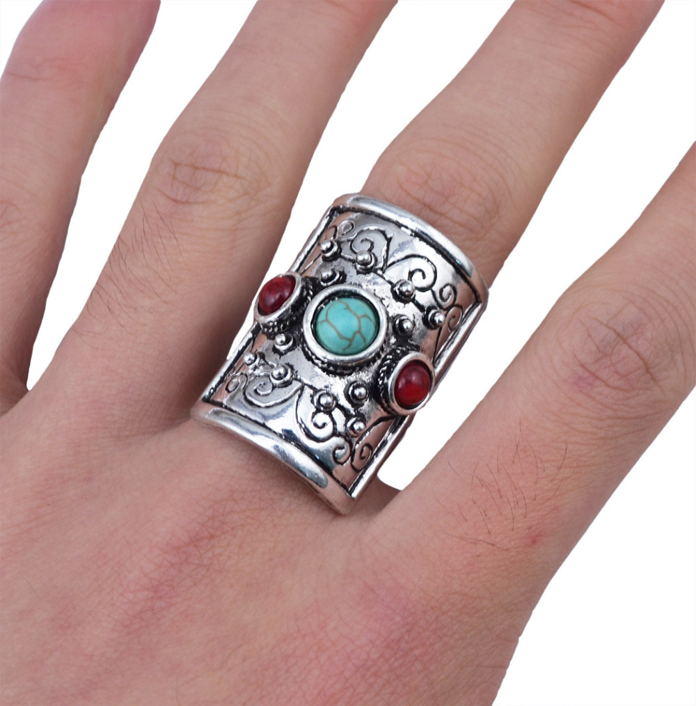 Unique Design Bohemian Antique Vintage Silver Rings For Women Mens ...