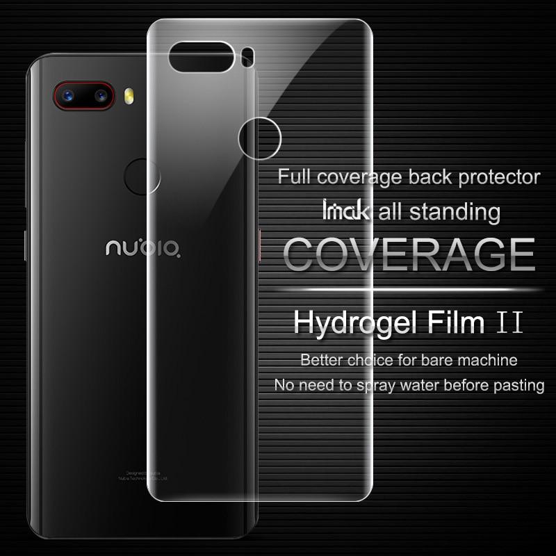 Imak Anti Glare Hydrogel Film 2th Gen for Nubia Z18mini 3D Full Cover for Nubia Z18mini Back Screen Protector Film No Wipping