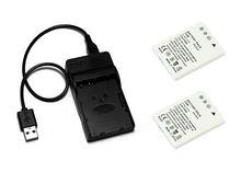 EN-EL8, ENEL8 EL8 Camera Batterij en USB Lader voor Nikon Coolpix P1, P2, S1, S2, s3, S5, S50, S50c, S51, S51c, S52.