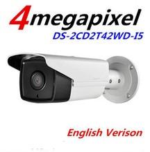 En stock inglés cámara del IP versión DS-2CD2T42WD-I5 mp Multi idioma IR red Bullet cámara IP ayuda H.264 función WDR