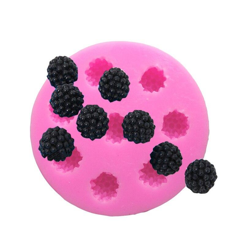 1pc 8 buracos forma de framboesa bolo molde de silicone baga fondant molde decoração do bolo ferramenta h564
