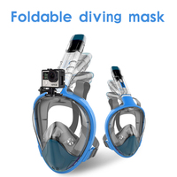 2018 new high quality full face snorkel mask swimming mask anti fog clear folding diving mask
