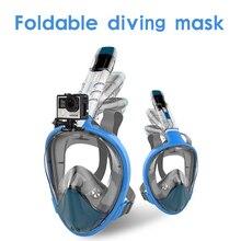 2018 ny högkvalitativ snorkelmasker med svansmask för maskintvätt mot tåget, helt ihopklädd dykmask