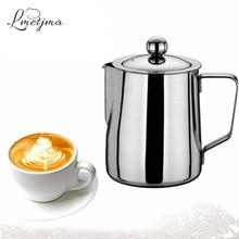 Lmetjma ajustable leche para espumar espuma jarra jarra con filtro de café café de acero inoxidable 350 ml 600 ml kcbii011607
