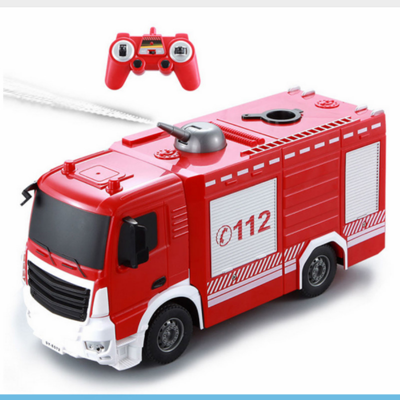 2 4G Radio Control RC Fire Truck Remote Control Water Jet Fire Engine For Kids Gift