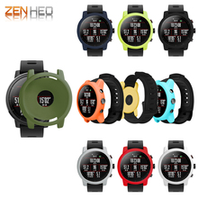 Colorful Slim Silicone Case Cover Protect Shell For Huami Amazfit Stratos Smart Watch 2/2S Frame amazfit 2 stratos