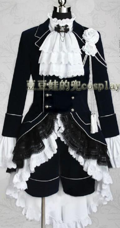 Black Butler Cosplay Ciel Phantomhive Black Cosplay Costume