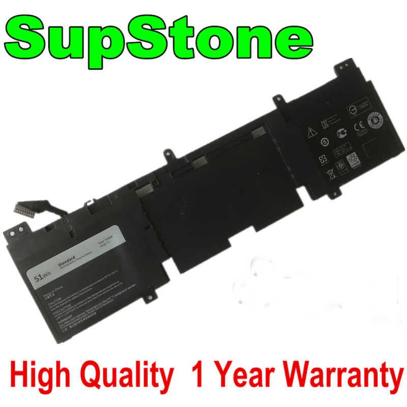 SupStone 51WH New Genuine 3V806 Laptop Battery For Dell Alienware ECHO 13 QHD ALW13ED-2608 1708 1608 3O806 3O8O6 Battery 14.8V