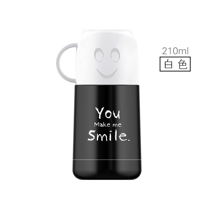 Urijk New Insulation Watter Bottle Smile Face Thermoses Insulation Cup Creative Gift Cup Stainless Steel Vacuum Flasks