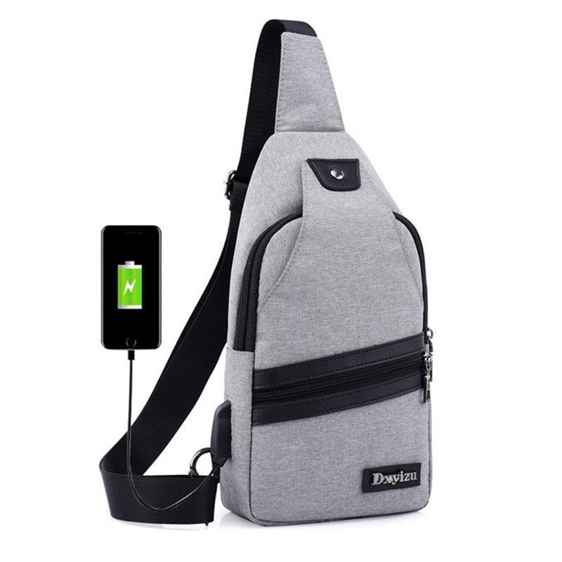 KAKA Famous Brand Oxford Men Chest Bags Men Functional multilayer Bag Cool Casual Pack Morden Large Capacity Messenger bag Pack