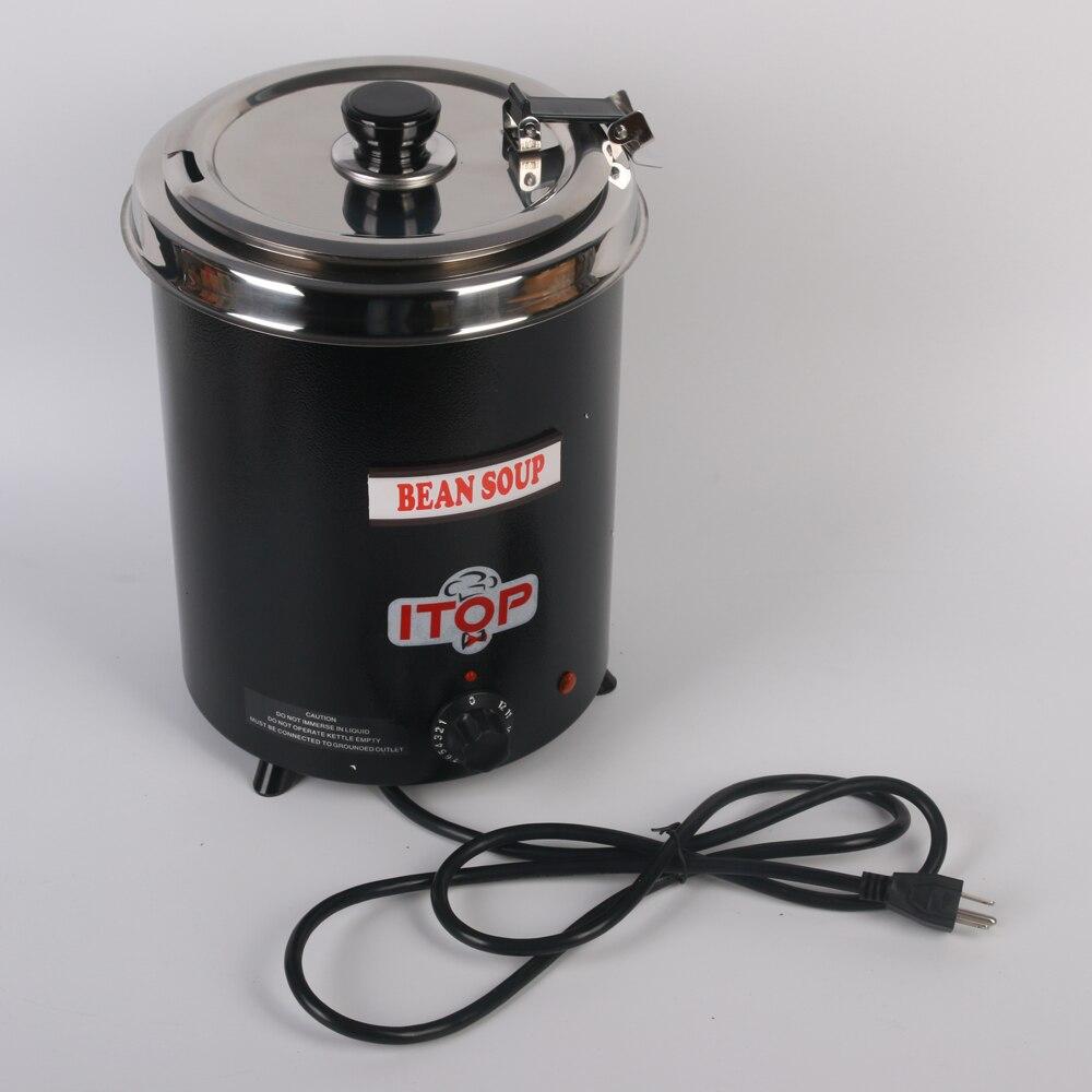 commercial electric soup kettle warmer black countertop soup kettle warmer 300w premier choice - Soup Warmer
