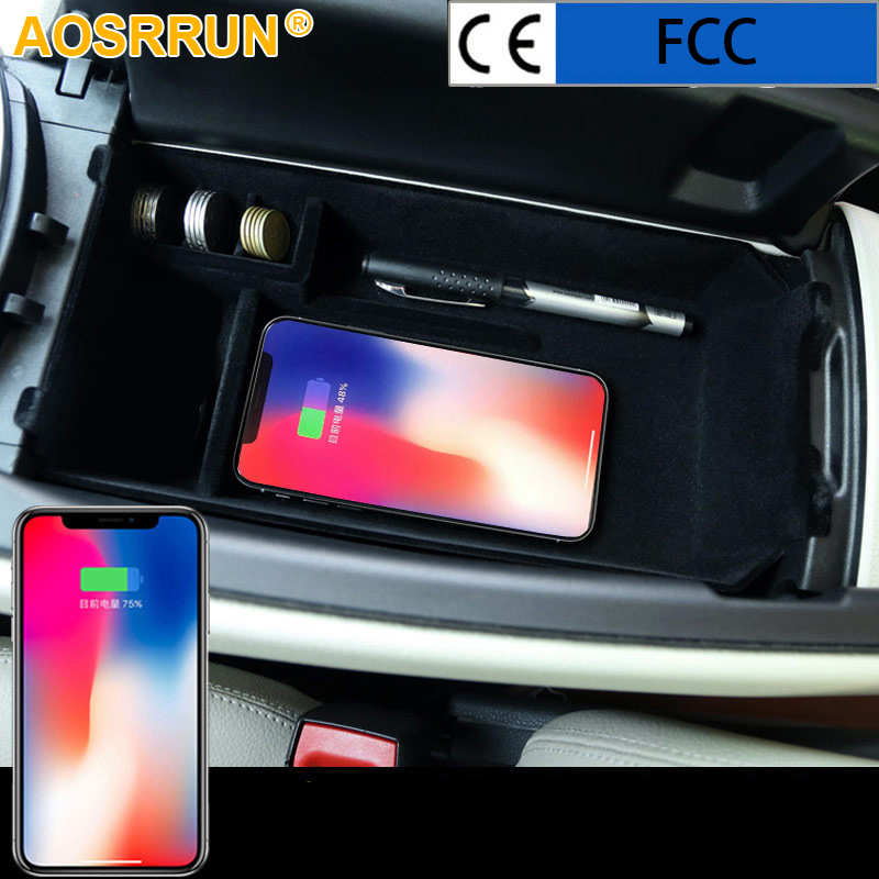 Mobile phone wireless charging middle Store content Box Car Accessories For Mercedes Benz C Class W205 C200 C300 GLC