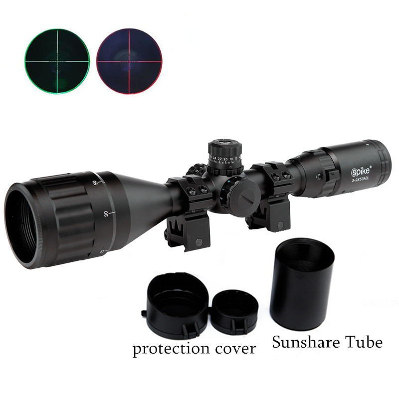 3-9X50AOL Hunting Riflescope Tactical Optical Sight Airsoft Air Guns Scopes Green/Red Dot Illuminated Pistol Reflex Night Vision hunting red dot illuminated scopes for airsoft air guns riflescopes tactical reticle optics sight hunting luneta para rifle