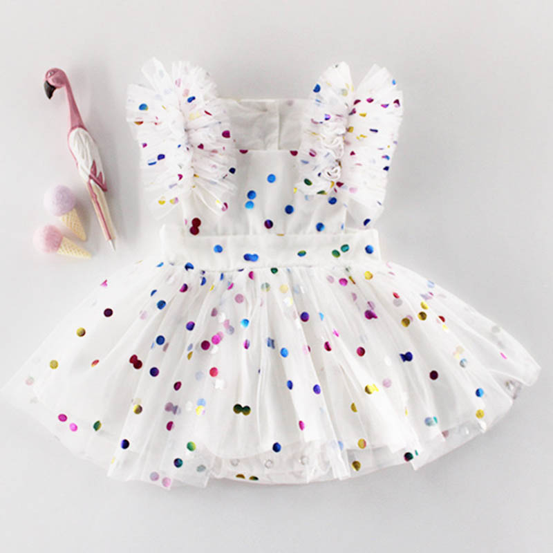 Newborn Baby Girl Set Summer White Ruffle Lace   Romper   Toddler Party Princess Dresses Baby Girl Clothes Dress Sleeveless