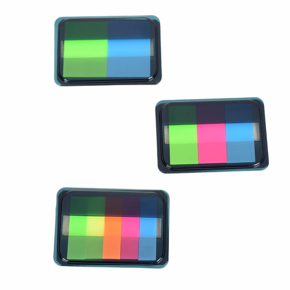Hot Sale Fluorescen Sticker Post Bookmark Marker Memo Flags Index Pad Tab Sticky Notes school supplies