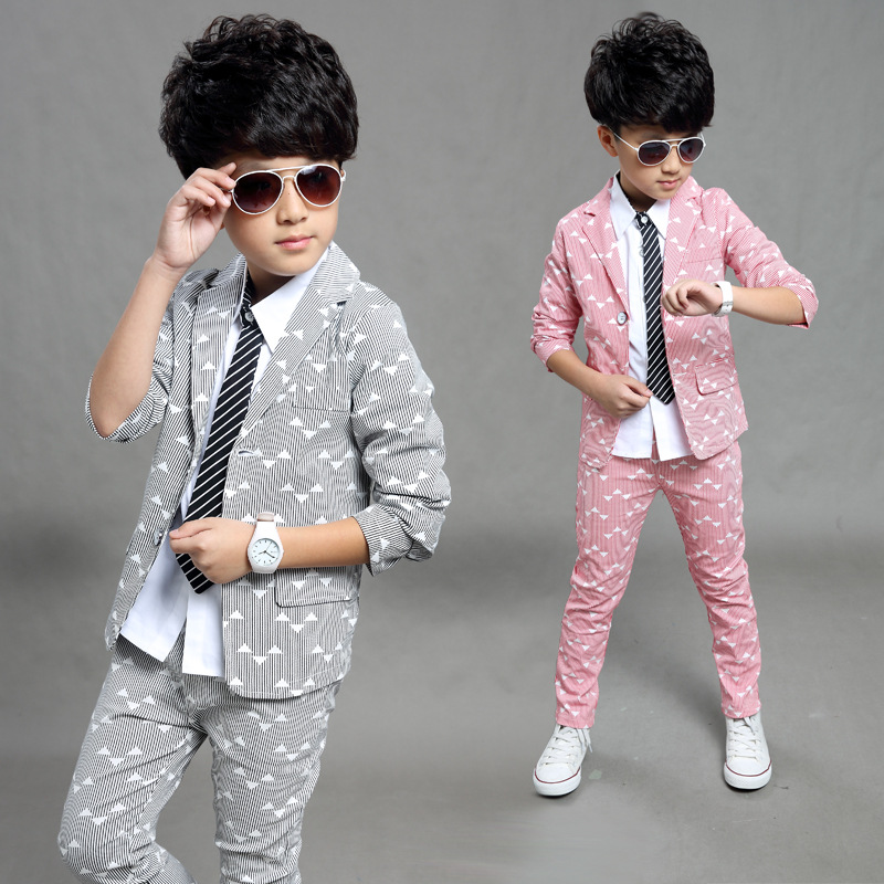 ac4fe5406 2018 Spring Autumn Gentleman Suit Jackets+Pants Baby Boys Clothes ...