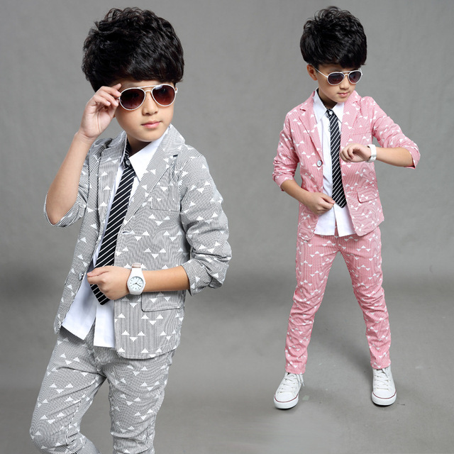 9332fedf1397 2018 Spring Autumn Gentleman Suit Jackets+Pants Baby Boys Clothes ...