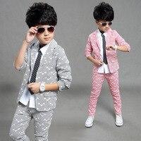 2018 Spring Autumn Gentleman Suit Jackets+Pants Baby Boys Clothes For Kids Designer Childrens Clothing Set 2pcs/set