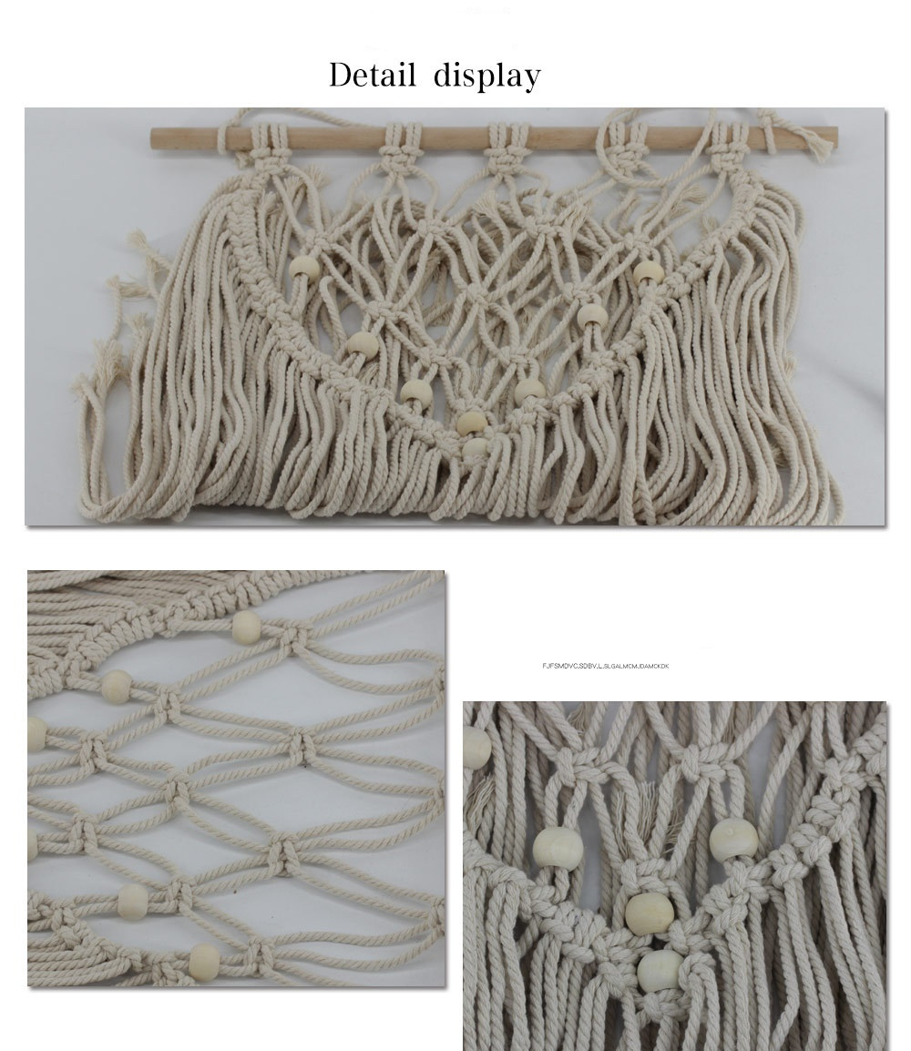 New Macrame Cotton Handmade Tapestry Bohemian Wall Hanging Decor For Bedroom Farmhouse Dorm Room Home Decoration Fixed nail in Tapestry from Home Garden