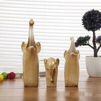 Ceramic Crafts Mini Elephant Animal Model Desktop Decoration Home Decor Ornaments Birthday Gift Christmas Present
