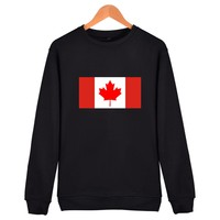 Canadian Flag Mens Hoodies And Sweatshirts Autumn Winter High Quality Spanish Espagne Long Sleeve Hoodies Sweatshirts