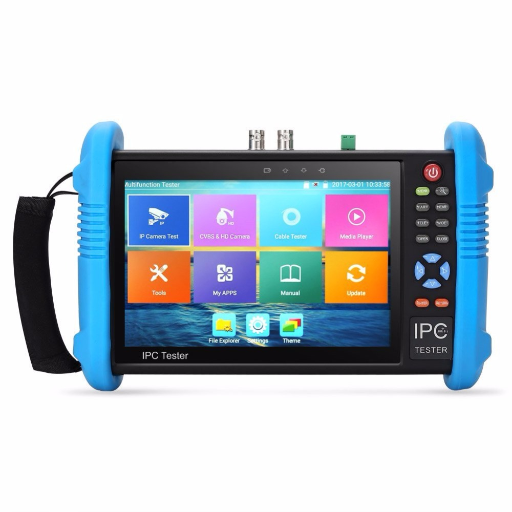 Upgraded 7 inch IPS Touch Screen H.265 4K IPC 9800 Plus IP Camera Tester CCTV CVBS Analog Tester Built in Wifi with POE/WIFI/8G