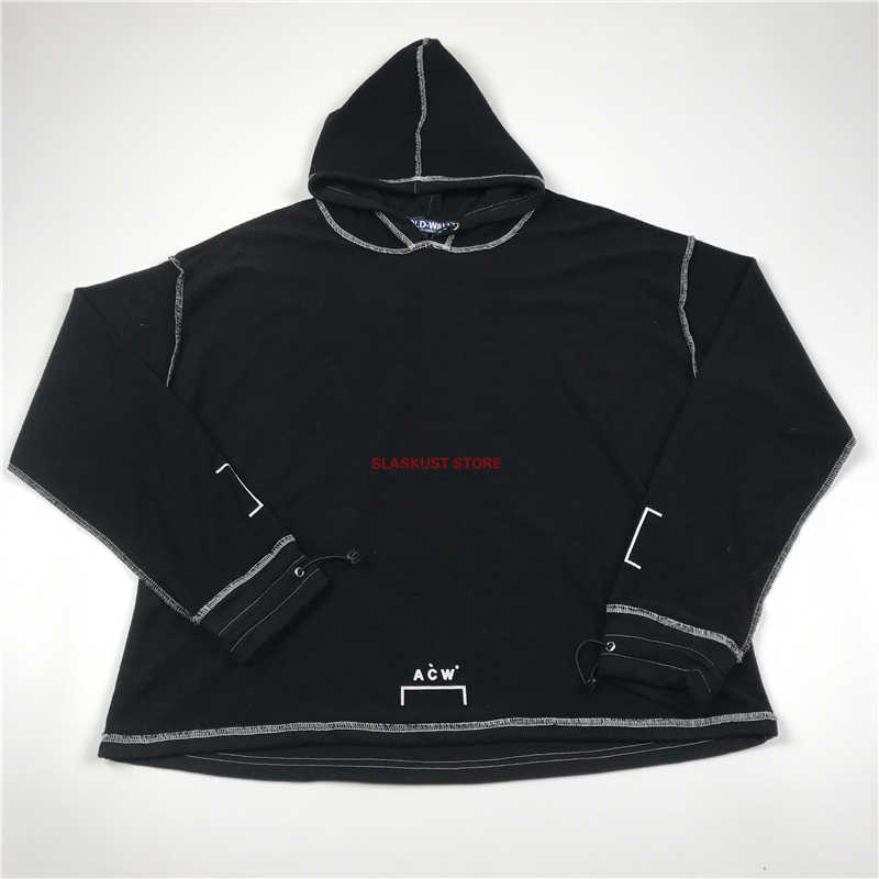 e338776a Best Version A-COLD-WALL Contrast Stitching Reversible Hoodie Oversize  Sweatshirt Streetwear Elasticized Cuffs