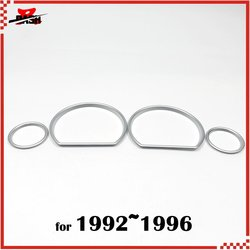 DASH Free shipping for Toyota JZX 90 Chaser 1992 1996 Silver Cluster Gauge dashboard Rings