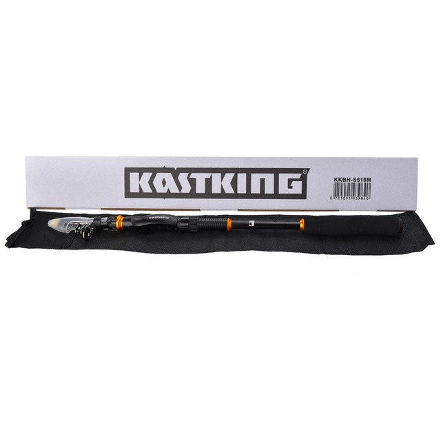 KastKing BlackHawk Carbon Fiber Telescopic Fishing Rod 1.8m 2.1M 2.4M 2.7M 3.0M 3.6M Spinning Rod Saltwater Fishing Travel Rod