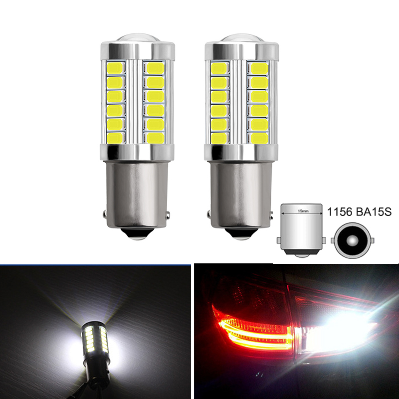 2x 1156 7506 P21W BA15S Car Tail Bulb 5630 5730 SMD S25 Backup Lights for <font><b>Mercedes</b></font> Benz W203 W204 Auto Reverse Lamp Brake Light image