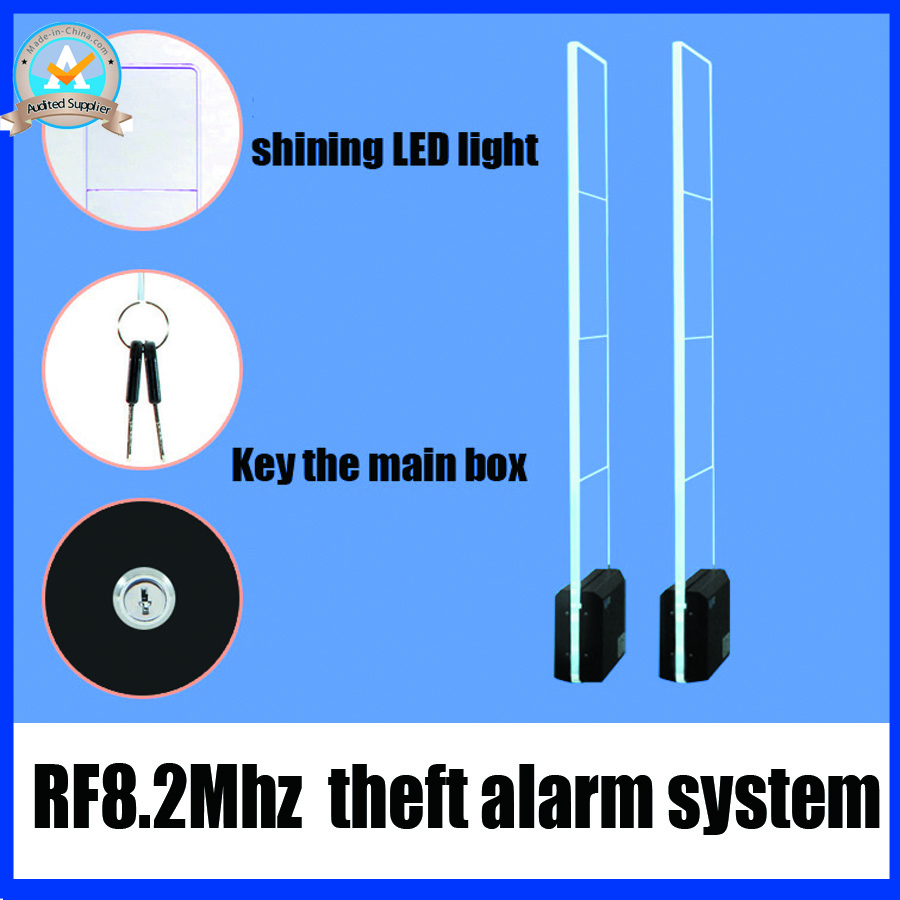 RF8.2Mhz theft alarm system,acrylic eas system,sound and light security alarm for supermarket fashion store and retail shop все цены