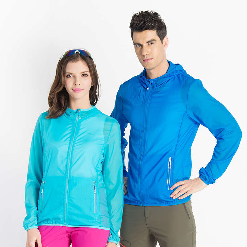 Womens Light Weight Outdoor Sport Jacket Ultra Thin Jacket Quick Drying Solid Color Sun Protective Breathable Hooded Hiking New