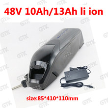 48v 13ah GTK 48v 10ah lithium ion battery 18650 BMS li ion for 750W 1000W electric bike scooter kit e-bike + 2A charger(China)