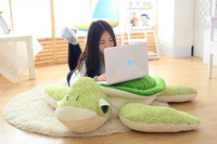 huge plush green turtle toy new creative green back turtle doll pillow gift about 110cm