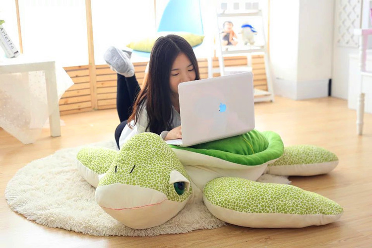 huge plush green turtle toy new creative green back turtle doll pillow gift about 110cm 2017 new arriving 40cm big eyes turtle plush toy turtle doll turtle kids as birthday christmas gift free shipping