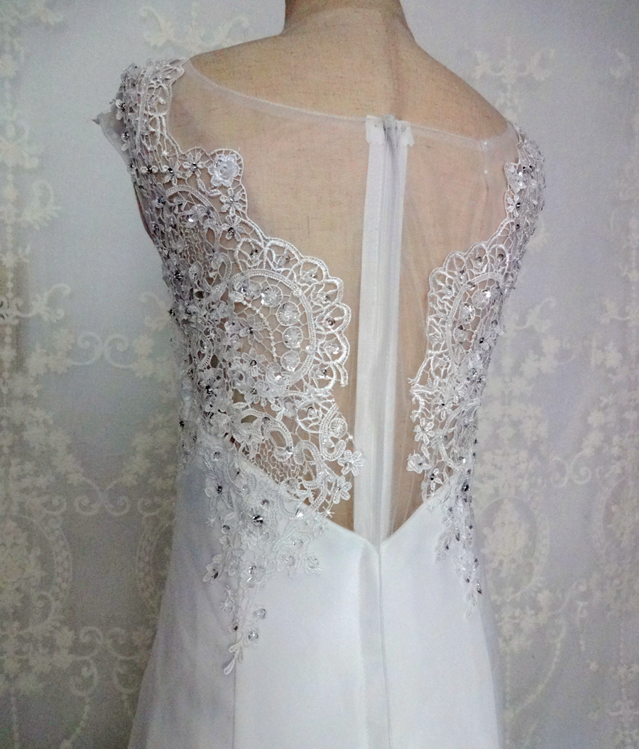 Imagini reale White Ivory Big Tren de nunta rochie Vintage musulman - Rochii de mireasa - Fotografie 6