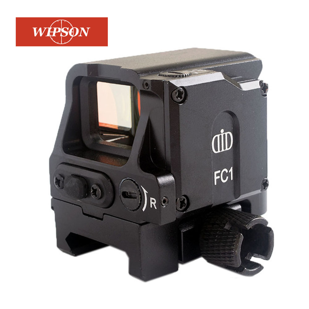 WIPSON Óptico DI FC1 Holográfica Mira Reflex Red Dot Sight Scope Sniper Rifle Scope para 20 milímetros Rail Caça Óptica vista