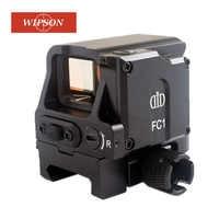 WIPSON DI FC1 Red Dot Mirino Ottico Olografico Reflex Sight Sniper Rifle Scope per 20 millimetri Ferroviario Ottiche da caccia Vista