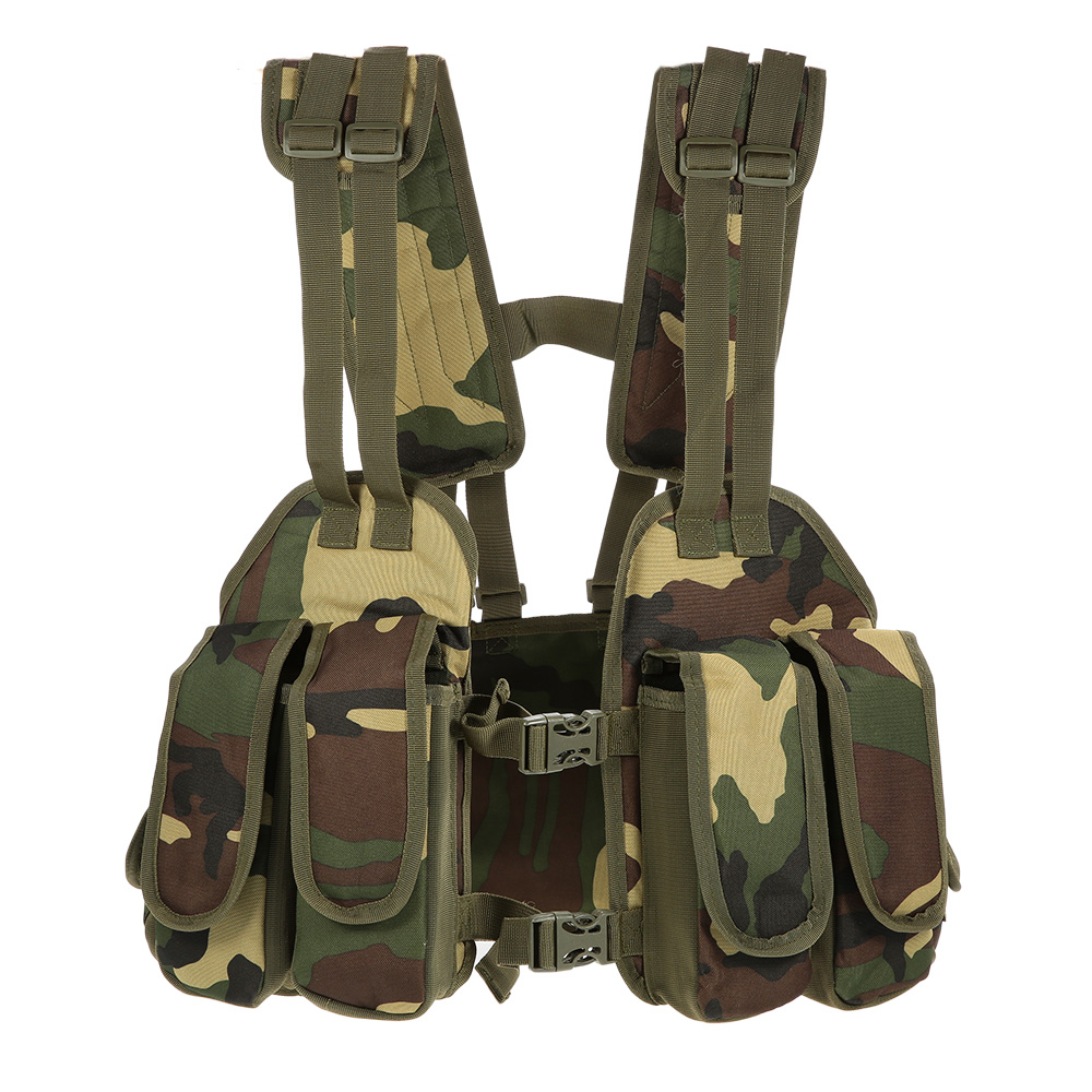 Us 18 1 40 Off Outdoor Hunting Vest Tactical Chest Rig Pouch Magazine Holder Bag Platform Polyester Adjule Padded Modular Military In