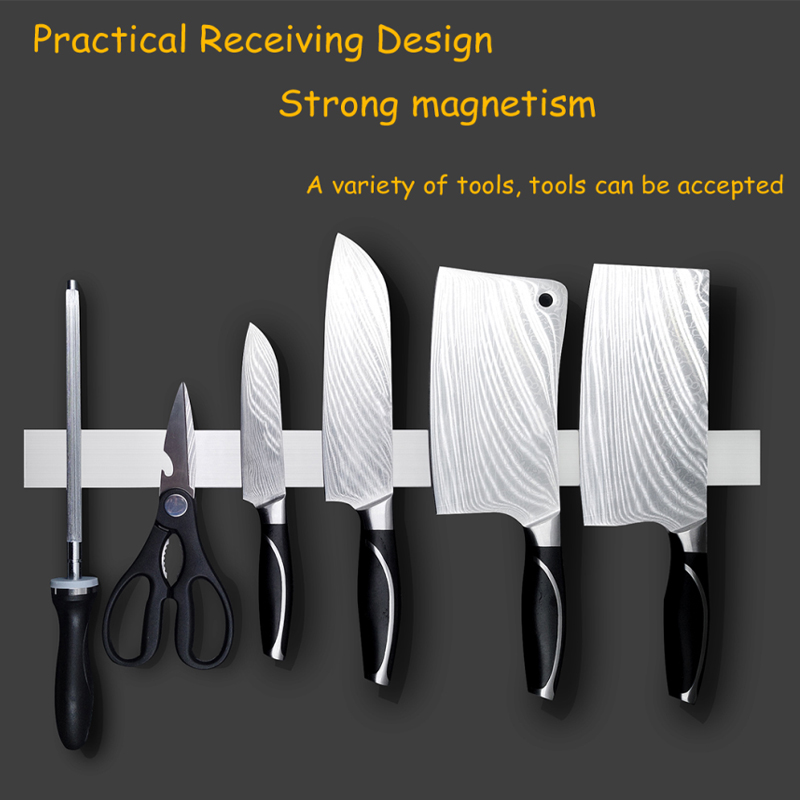 Kitchen knife rest hook holder enclosed waterproof  magnetic wall shelf hole-free rack