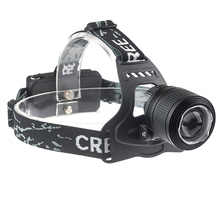 Impermeable DEL CREE XM-L T6 3800LM LED head lamp zoomable faros 18650 frontal recargable cabezal del flash de luz de iluminación