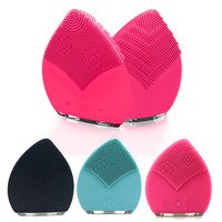 Mini Electric Face Brush Cleaner Silicone Vibrat Waterproof Ultrasonic Instrument Facial Skin Spa Massager Beauty Tool