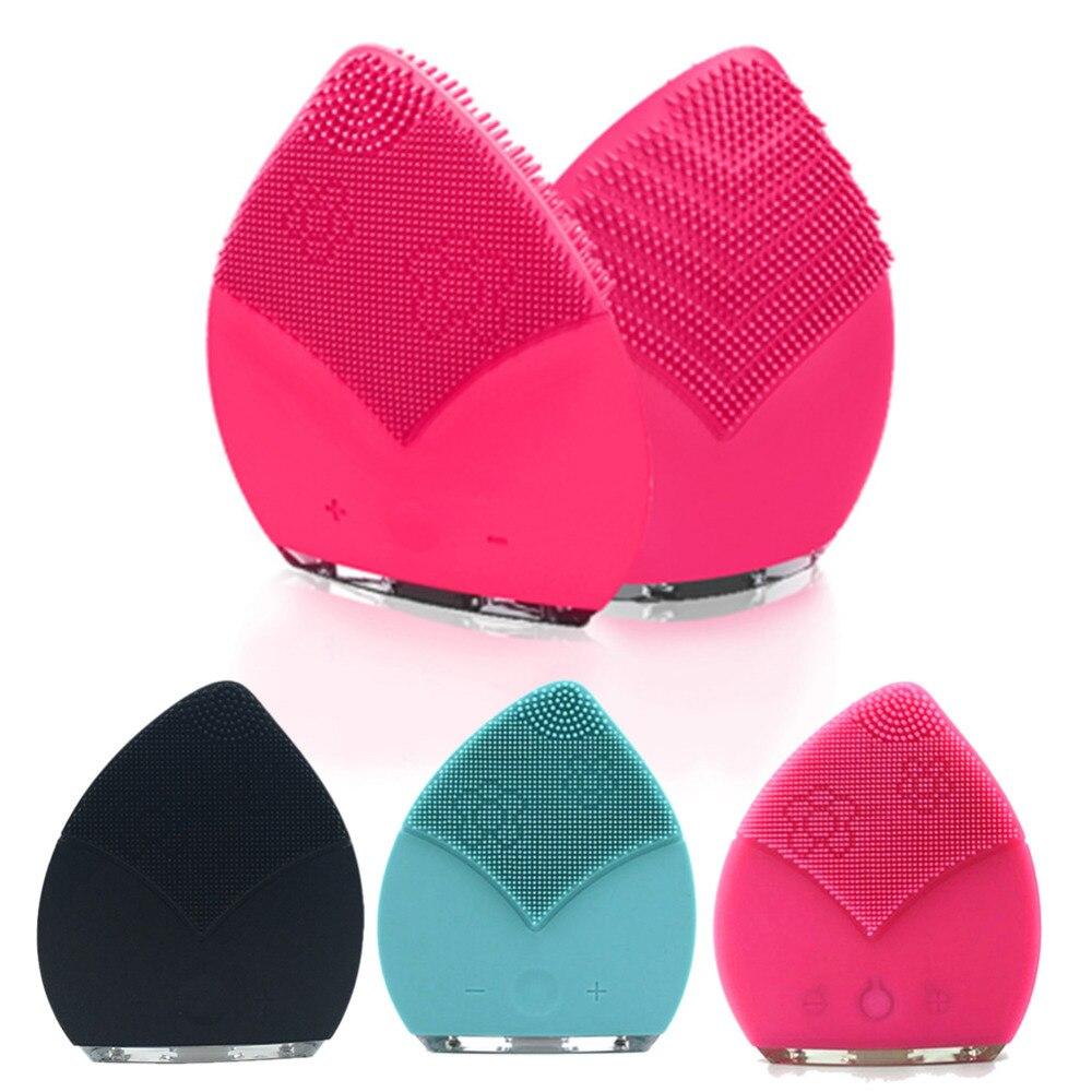 Mini Electric Face Brush Cleaner Silicone Vibrat Waterproof Ultrasonic Instrument Facial Skin