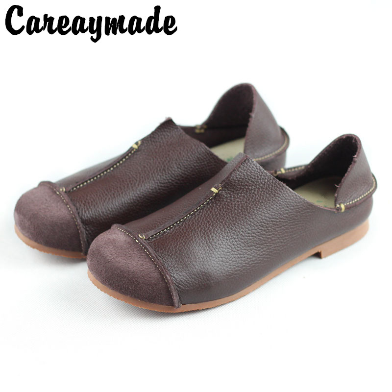 Careaymade Genuine Leather pure handmade shoes the retro art mori girl shoes Women s casual shoes